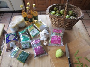 Pear Chutney Ingredients